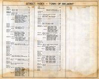 Street Index 3, Belmont Assessor Plans 1931